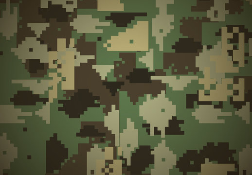 Green Military Digital Camouflage Pattern