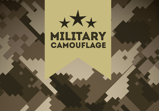 Brown Military Digital Camouflage Pattern