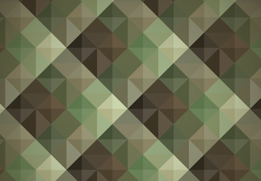 Green Military Camouflage Inspired Geometric Pattern 1