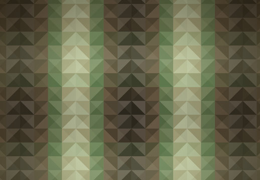 Green Military Camouflage Inspired Geometric Pattern 2
