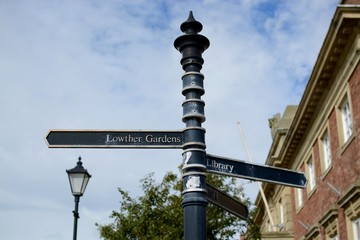 Sign post Lytham St Annes town centre, Lancashire, UK  Wall mural