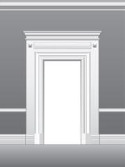 Portal, architectural detail, vector illustration.