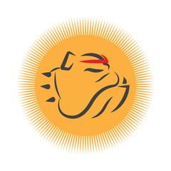 Bulldog Portrait Mascot