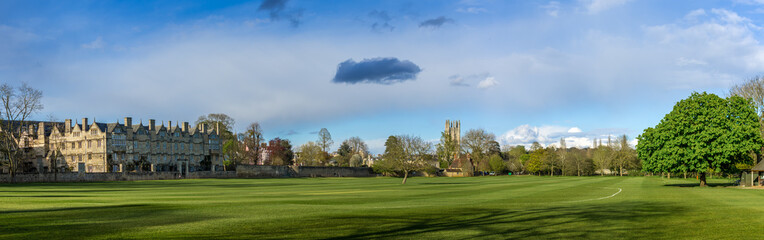 Panoramic view of Christchurch College meadow grounds