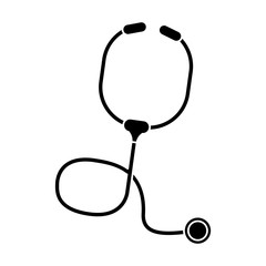 Stethoscope icon. Medical and health care theme. Isolated design. Vector illustration