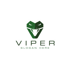 Viper logo design vector