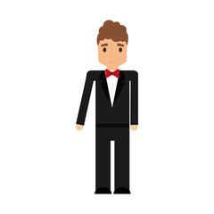 elegant man male isolated icon vector illustration design