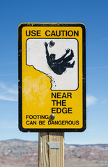 Caution Edge Sign