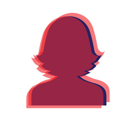 Optical Avatar Icon Design for Woman