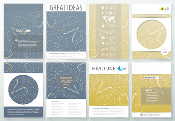 A4 Brochure Layout with a Constellation Design Element 1