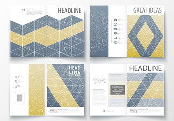 A4 Brochure Layout with a Constellation Design Element 2