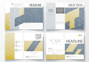 A4 Brochure Layout with a Constellation Design Element 3