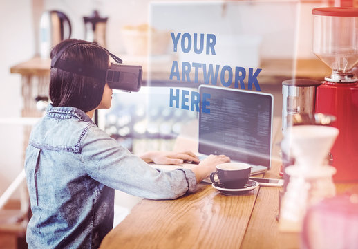 Woman and Virtual Reality Headset