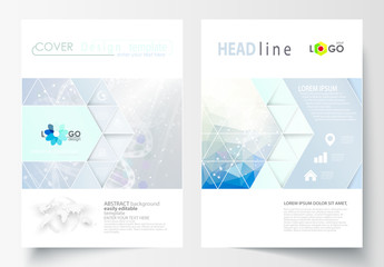 A4 Brochure Layout with a DNA Strand Design Element 6