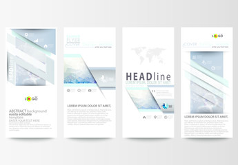 Vertical Flyer Layout with a DNA Strand Design Element 1