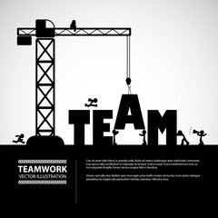 Design teamwork building concept, vector illustration.