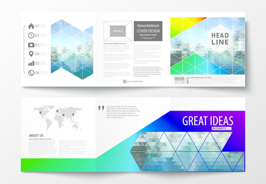 Trifold Brochure Layout with a DNA Strand Design Element 3