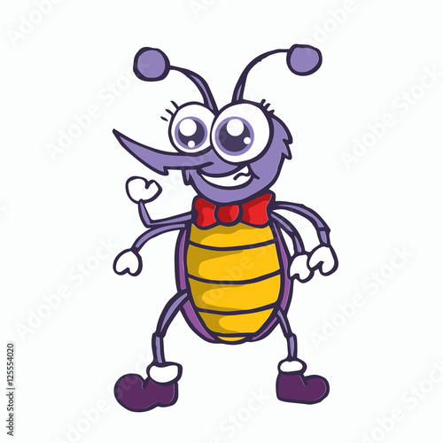 Cartoon Character T Shirt Design : Quot funny mosquito cartoon character t shirt design stock