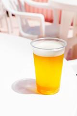 海の家の生ビール