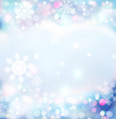 Vector background for Christmas and New Year. Bright, festive bl