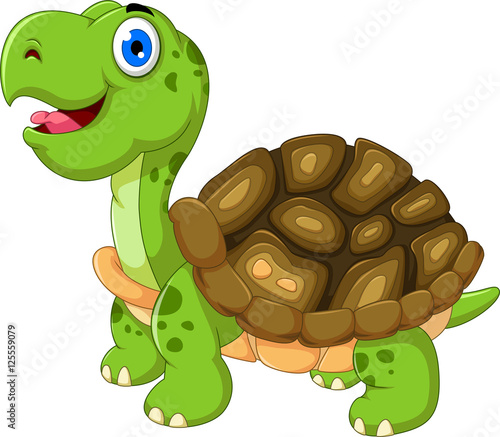 Quot cut cartoon turtle posing stockfotos und lizenzfreie