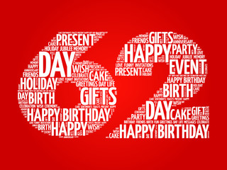 Happy 62nd birthday photos royalty free images graphics vectors happy 62nd birthday word cloud collage concept m4hsunfo