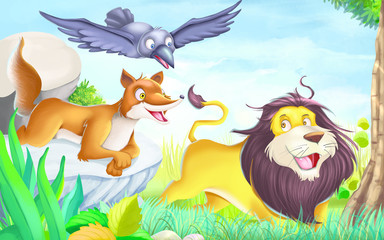 The Lion's friend and woodcutter story (10+11)