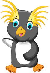 funny king penguin cartoon