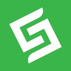 Geometric Green S Logo