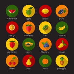 Fruits and berries icons