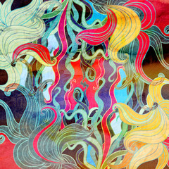 Watercolor multicolored abstract elements