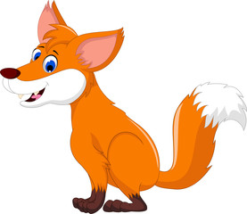 cute fox cartoon for you design