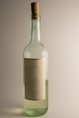Clear Label White Wine Bottle