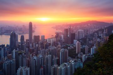 Wall Mural - Hong-Kong sunrise