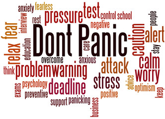Dont Panic, word cloud concept 7