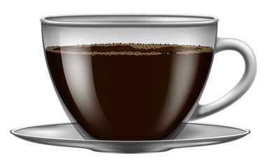 Coffee cup. Vector illustration.