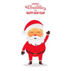 Santa Claus vector illustration . Santa cartoon character