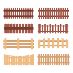 Different designs of fences