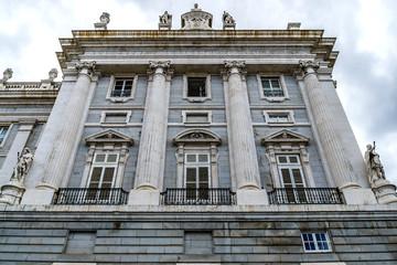 Spanish Royal Palace (Palacio Real) in Madrid, Spain.