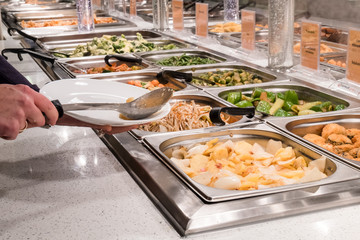Buffet at the chinese restaurant