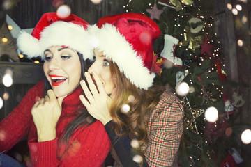 Frauen zu Weihnachten