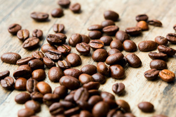 Coffee Beans roasted, can be used as a background