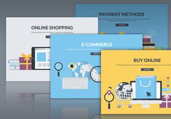 Flat Commerce Web Layouts