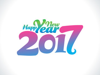 abstract artistic funky new year text