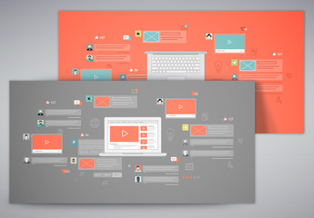 2 Social Media Illustration Kits