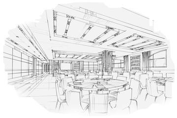 sketch stripes living book shelf , black and white interior desi