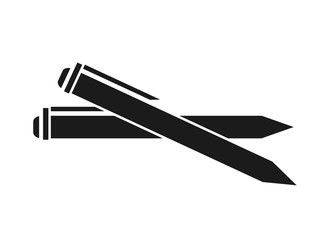 Pen icon. Write tool office object and instrument theme. Isolated design. Vector illustration