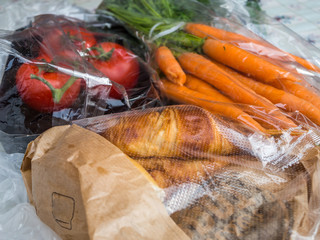 Lebensmittel Plastikverpackung
