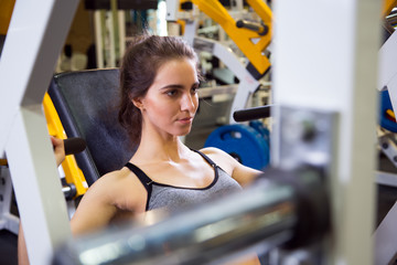 Woman at the gym. Fitness