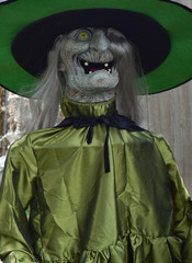 Scary witch Halloween decoration